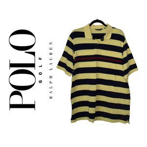 Polo Golf Black and Yellow Short sleeved shirt XL
